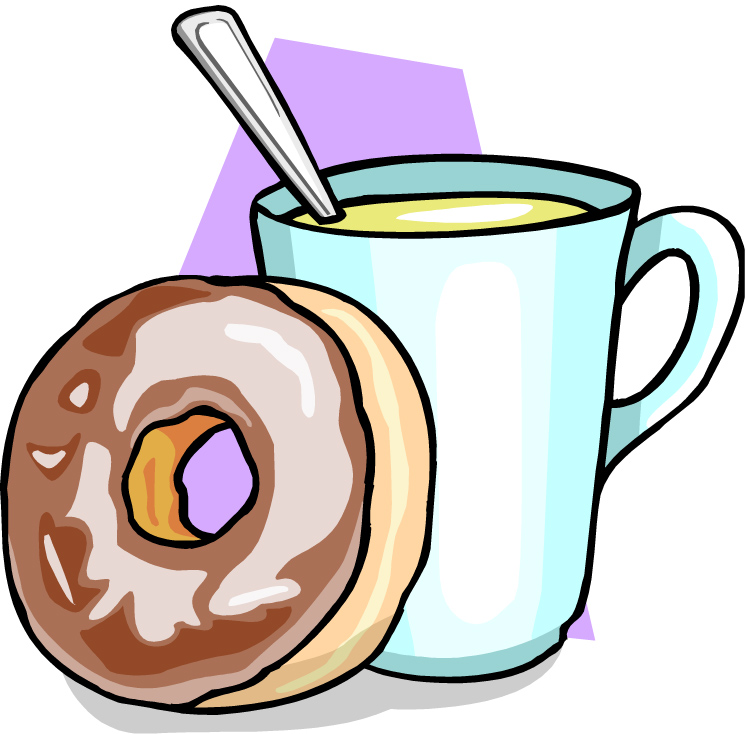 coffee cup and donut clip art