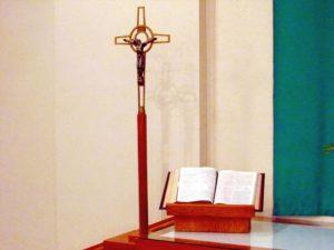 crucifix and bible